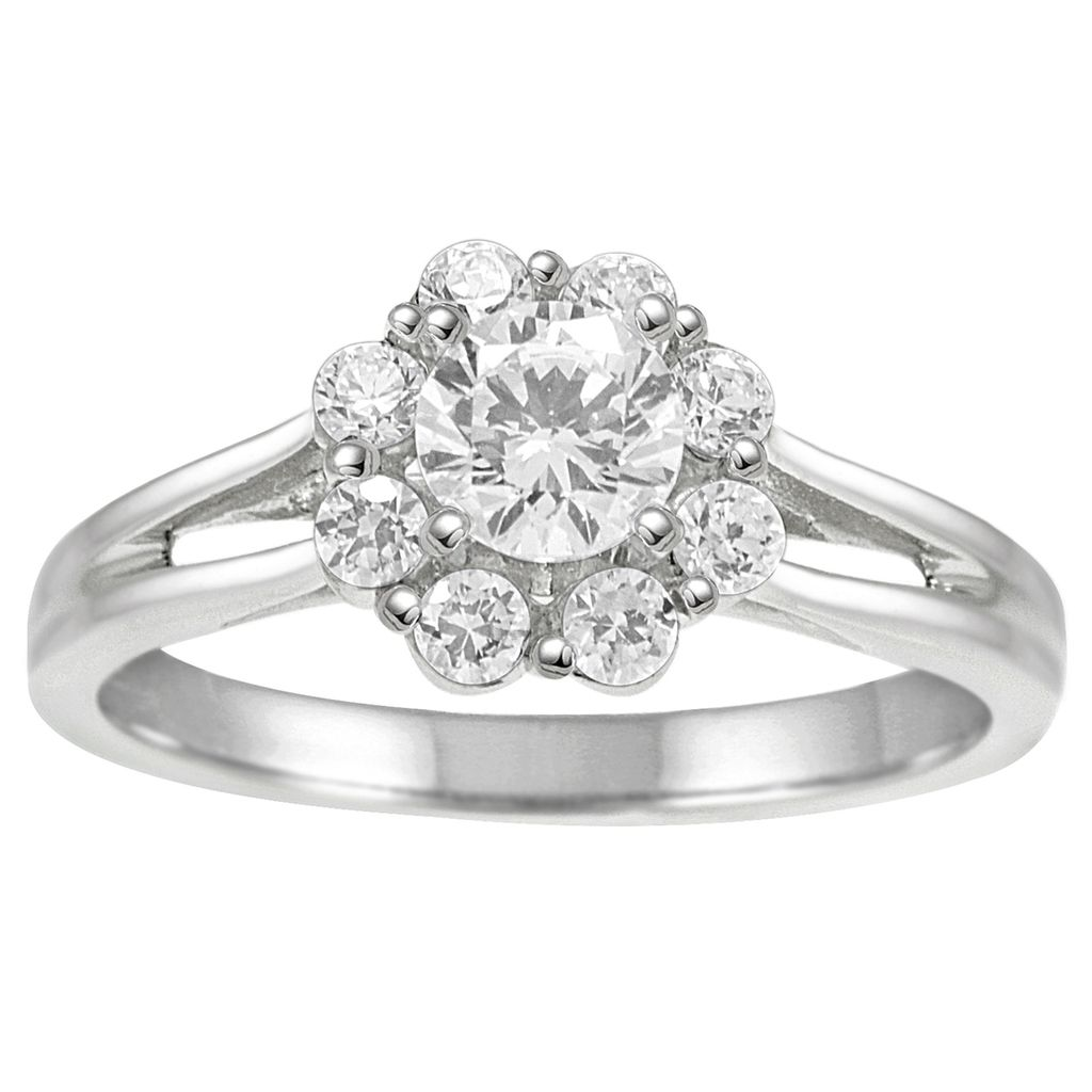 1 Ct.  Engagement Wedding Diamond Ring In 14k Solid White Gold