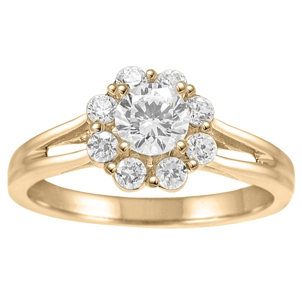1 Ct.  Engagement Wedding Diamond Ring In 14k Solid Yellow Gold